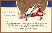 xms000543 - Christmas Post Card Old Vintage Antique Xmas Postcard
