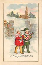 xms000545 - Christmas Post Card Old Vintage Antique Xmas Postcard