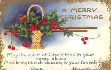 xms000549 - Christmas Post Card Old Vintage Antique Xmas Postcard