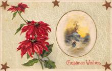 xms000551 - Christmas Post Card Old Vintage Antique Xmas Postcard
