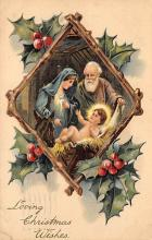 xms000555 - Christmas Post Card Old Vintage Antique Xmas Postcard