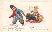 xms000557 - Christmas Post Card Old Vintage Antique Xmas Postcard