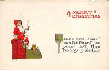 xms000559 - Christmas Post Card Old Vintage Antique Xmas Postcard