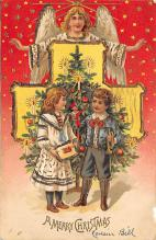 xms000569 - Christmas Post Card Old Vintage Antique Xmas Postcard