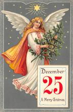 xms000571 - Christmas Post Card Old Vintage Antique Xmas Postcard