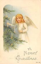 xms000573 - Christmas Post Card Old Vintage Antique Xmas Postcard