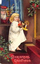 xms000583 - Christmas Post Card Old Vintage Antique Xmas Postcard