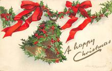 xms000585 - Christmas Post Card Old Vintage Antique Xmas Postcard
