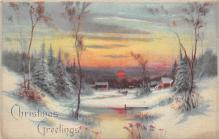 xms000587 - Christmas Post Card Old Vintage Antique Xmas Postcard