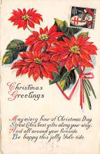 xms000589 - Christmas Post Card Old Vintage Antique Xmas Postcard