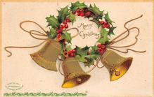 xms000591 - Christmas Post Card Old Vintage Antique Xmas Postcard