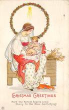 xms000593 - Christmas Post Card Old Vintage Antique Xmas Postcard