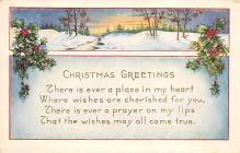 xms000595 - Christmas Post Card Old Vintage Antique Xmas Postcard