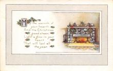 xms000597 - Christmas Post Card Old Vintage Antique Xmas Postcard