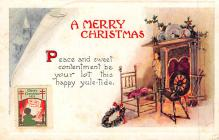 xms000607 - Christmas Post Card Old Vintage Antique Xmas Postcard