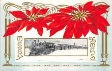 xms000613 - Christmas Post Card Old Vintage Antique Xmas Postcard
