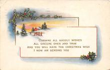 xms000617 - Christmas Post Card Old Vintage Antique Xmas Postcard