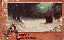 xms000619 - Christmas Post Card Old Vintage Antique Xmas Postcard