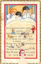 xms000623 - Christmas Post Card Old Vintage Antique Xmas Postcard