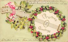 xms000629 - Christmas Post Card Old Vintage Antique Xmas Postcard