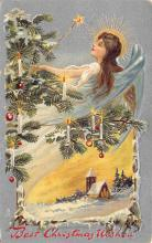 xms000631 - Christmas Post Card Old Vintage Antique Xmas Postcard