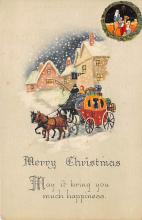 xms000633 - Christmas Post Card Old Vintage Antique Xmas Postcard