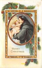 xms000637 - Christmas Post Card Old Vintage Antique Xmas Postcard