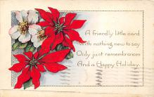 xms000641 - Christmas Post Card Old Vintage Antique Xmas Postcard