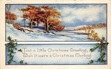 xms000643 - Christmas Post Card Old Vintage Antique Xmas Postcard