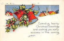 xms000647 - Christmas Post Card Old Vintage Antique Xmas Postcard