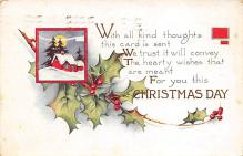 xms000649 - Christmas Post Card Old Vintage Antique Xmas Postcard