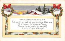 xms000653 - Christmas Post Card Old Vintage Antique Xmas Postcard