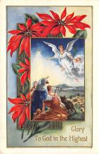 xms000655 - Christmas Post Card Old Vintage Antique Xmas Postcard