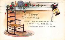 xms000661 - Christmas Post Card Old Vintage Antique Xmas Postcard