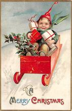 xms000665 - Christmas Post Card Old Vintage Antique Xmas Postcard