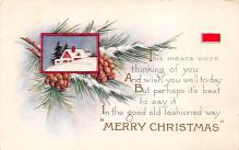 xms000669 - Christmas Post Card Old Vintage Antique Xmas Postcard