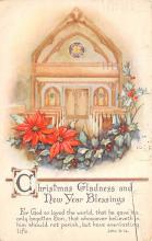 xms000671 - Christmas Post Card Old Vintage Antique Xmas Postcard