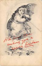 xms000673 - Christmas Post Card Old Vintage Antique Xmas Postcard
