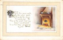 xms000677 - Christmas Post Card Old Vintage Antique Xmas Postcard