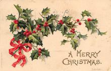 xms000687 - Christmas Post Card Old Vintage Antique Xmas Postcard