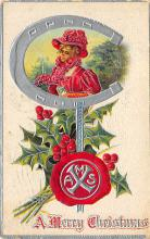 xms000689 - Christmas Post Card Old Vintage Antique Xmas Postcard
