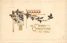 xms000691 - Christmas Post Card Old Vintage Antique Xmas Postcard