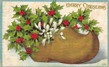 xms000697 - Christmas Post Card Old Vintage Antique Xmas Postcard