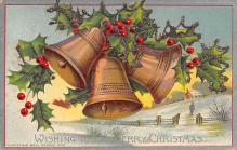 xms000699 - Christmas Post Card Old Vintage Antique Xmas Postcard