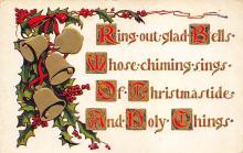 xms000703 - Christmas Post Card Old Vintage Antique Xmas Postcard