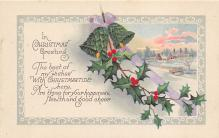 xms000705 - Christmas Post Card Old Vintage Antique Xmas Postcard