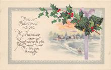 xms000707 - Christmas Post Card Old Vintage Antique Xmas Postcard