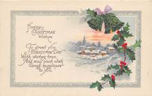 xms000709 - Christmas Post Card Old Vintage Antique Xmas Postcard