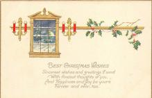 xms000711 - Christmas Post Card Old Vintage Antique Xmas Postcard