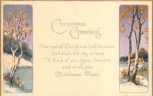 xms000713 - Christmas Post Card Old Vintage Antique Xmas Postcard
